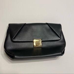 NWOT Womens Black Gold Clutch Purse Bag Evening